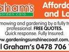 Grahams Garden Care - Affordable and Local Lawnmowing