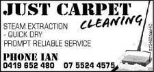 - QUICK DRY PROMPT RELIABLE SERVICE JUST CARPET  CLEANING STEAM EXTRACTION