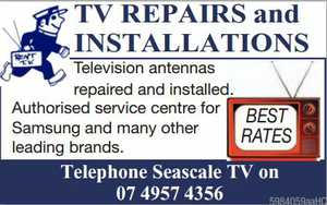 Television antennas repaired and installed 