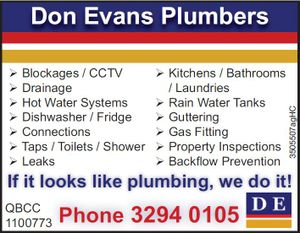 IF IT LOOKS LIKE PLUMBING, WE WILL DO IT! 