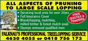 ALL ASPECTS OF PRUNING TO LARGE SCALE LOPPING 