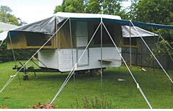 Newly renovated, new canvas, kitchen & flooring!   Large awning, 2 way fridge, pull out dbl beds, VGC, 10 mths reg   ~ 1975 Millard~