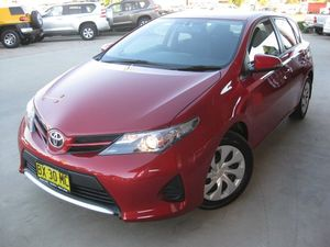 2013 Toyota Corolla ZRE182R Ascent Red 7 Speed CVT Auto Sequential Hatchback