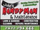 JOHN'S HANDYMAN & MAINTENANCE