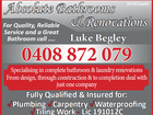 ABSOLUTE BATHROOMS & RENOVATIONS