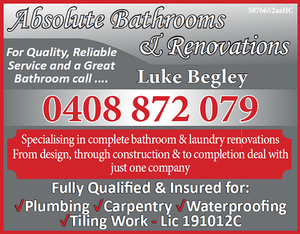 For Quality, Reliable Service and a Great Bathroom
