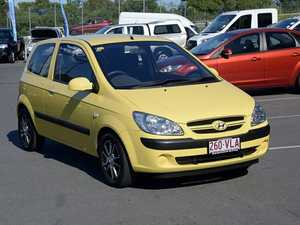 2007 Hyundai Getz TB S Yellow 5 Speed Manual Hatchback