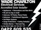 WADE CHARLTON ELECTRICAL SERVICES