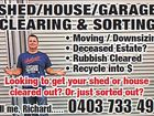 SHED/HOUSE/GARAGE CLEANING AND SORTING
