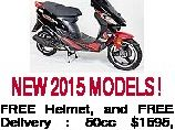 NEW 2015 MODELS ! FREE Helmet, and FREE Delivery : 50cc $1595, 150cc $2585, 250cc $4200 Phone: 1300697266 or Text 0412 127 832 for Full details go to the web www.ozscootersdirect.com.au