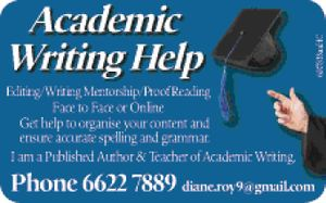 Editing / Writing Mentorship / Proof Reading 
