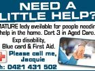 NEED A LITTLE HELP? (CARER)