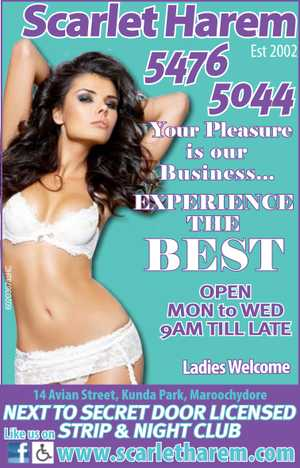 5476 5044   <http://scarletharem.com/>   All Enquires Welcome   Disabled & Handicapped   Friendly Personalised services especially for you   Short time to long time available   Up to 8 ladies per shift   Ladies Welcome   Open: Monday - Wednesday 9am till LATE Thursday - Sunday 24 Hours