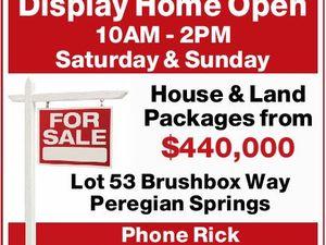 Display Home Open