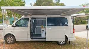 2010 T5 VW Transporter LWB,   mid height roof, 65,000kms, professional fit out, perfect layout for 2, Queen bed, 50 Lt water tank & pump, 100AMP deep cycle aux battery, lots of storage, mutiple 12V & 240V outlets, swivel seats.   $45,500   Bruce: 0418713259 Noosa Heads