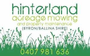 Acreage Mowing & Property Maintenance   Ballina and Byron Bay    Phone 0407 981 636