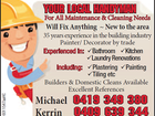 Your Local Handyman - For All your Maintenance & Cleaning Needs