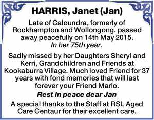 HARRIS, Janet (Jan)