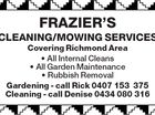 Fraziers Cleaning/Mowing Services