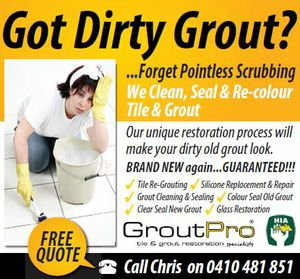 Dirty Grout? CALL GROUT PRO!