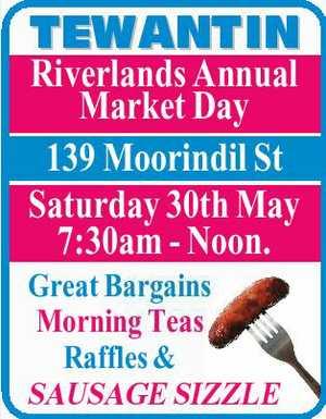 139 Moorindil St  Saturday 30th May 7:30am - Noon  Great Bargains, Morning teas, raffles and sausage sizzle.