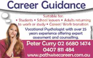 Vocational Psychologist with over 25 years experience 
