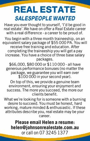 REAL ESTATE SALESPEOPLE WANTED 