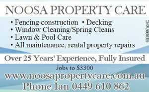 Fencing construction  Decking  Window Cleaning/Spring Cleans  Lawn & Pool Care  All maintenance, rental property repairs  Over 25 years experience  Fully insured  Jobs to $3300  Phone Ian