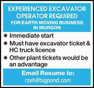 EXPERIENCED EXCAVATOR