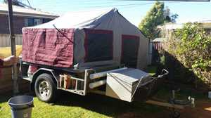 Trackabout,  Qld made for Off road,  kitchen,  80l water tank,  will carry 1.5tonne,  12v-240v,  VGC