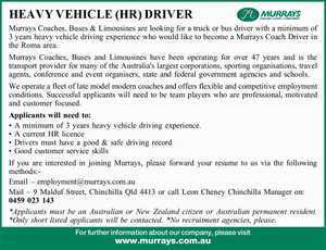 HEAVY VEHICLE (HR) DRIVER 