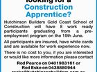 Are you looking for a Construction Apprentice?
