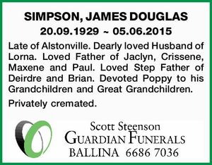 SIMPSON, JAMES DOUGLAS