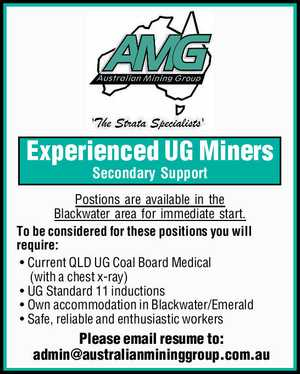 Experienced UG Miners