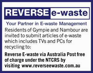 Your Partner in E-waste Management    Residents of Gympie and Nambour are invited to submit articles of e-waste which includes TVs and PCs for recycling to: Reverse E-waste via Australia Post free of charge under the NTCRS   by visiting www.reverseewaste.com.au