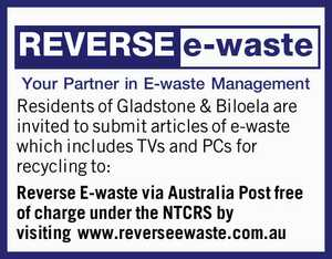 Your Partner in E-waste Management    Residents of Gladstone & Biloela are invited to submit articles of e-waste which includes TVs and PCs for recycling to: Reverse E-waste via Australia Post free of charge under the NTCRS   by visiting www.reverseewaste.com.au
