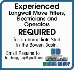 Experienced Longwallmove Fitters, Electricians and Operators