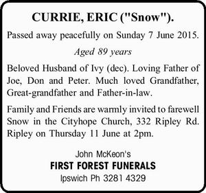 "CURRIE, ERIC (""Snow"").