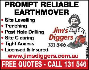 * Site Levelling * Trenching * Post Hole Drilling * Site Clearing * Tight Access 