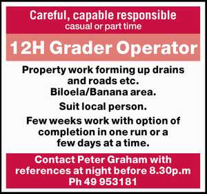 Careful, capable responsible casual or part time