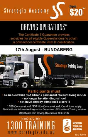 Certificate lll in Driving Operations