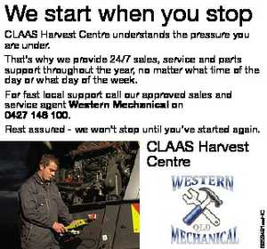 We start when you stop CLAAS Harvest Centre understands the pressure you are under. 
