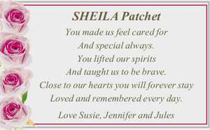 SHEILA Patchet