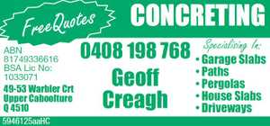 Geoff Creagh Concreting