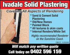 Ivadale Solid Plastering 