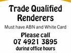 Trade Qualified Renderers