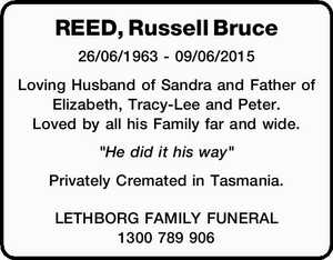 REED, Russell Bruce