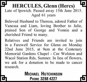 HERCULES, Glenn (Hercs)