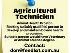 Agricultural Technician