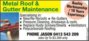 Metal Roof & Gutter Maintenance